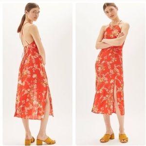 Topshop Ornate Floral Midi Slip Dress!!